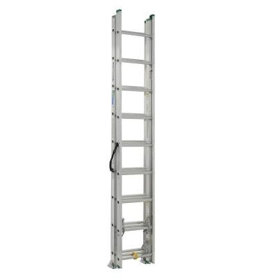 24 ft. Aluminum 3 Section Compact Extension Ladder with 225 lb. Load Capacity Type II Duty Rating