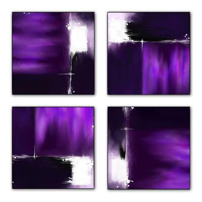 12 in. x 12 in. The Color Purple Laminated Lacquer Box Wall Art (Set of 4)