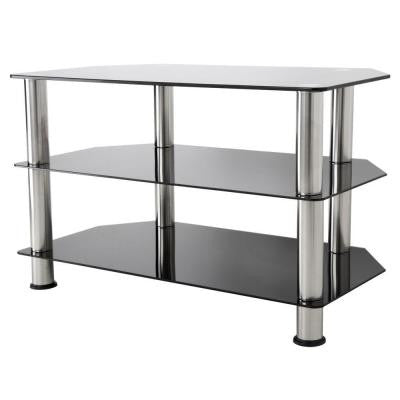 Glass and Chrome TV Stand for 37 in. TVs