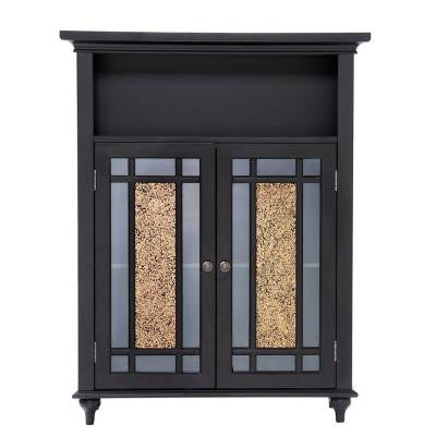 Winfield 34 in. H x 26-1/2 in. W x 12 in. D Double Doors Floor Cabinet in Dark Espresso with Mosaic