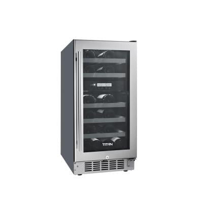 23-Bottle Seamless Stainless Steel Dual Zone Built-In Wine Cooler