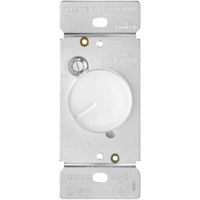 ASPIRE 5-Amp 120-Volt Single-Pole Quiet 3-Speed Fan Control Rocker Switch - White