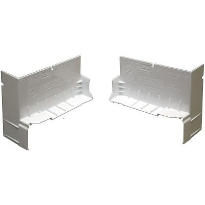 4-9/16 in. White PVC End Caps for SureSill Sloped Sill Pans (Pair)