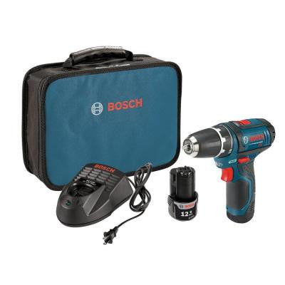 12-Volt Lithium-Ion 3/8 in. Drill Driver Kit with 2Ah Battery