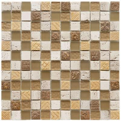 Cathedral Milano 12 in. x 12 in. x 8 mm Glass and Stone Mosaic Wall Tile