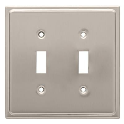 Country Fair 2 Toggle Switch Wall Plate - Satin Nickel