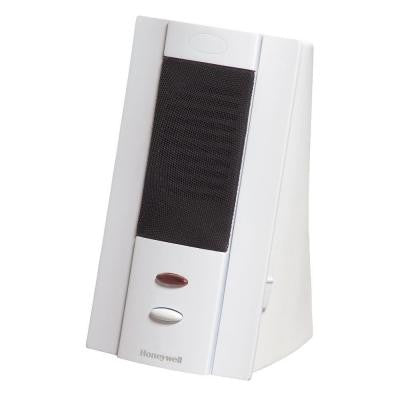 Tabletop White Wireless Four Tune Door Chime, 150 ft. Range