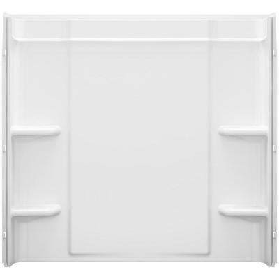 Ensemble 60 in. x 30 in. x 55 in. 3-Piece Shower Wall Set in White