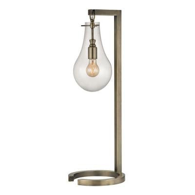 Antique Brass 29 in. Antique Brass Table Lamp with Shade