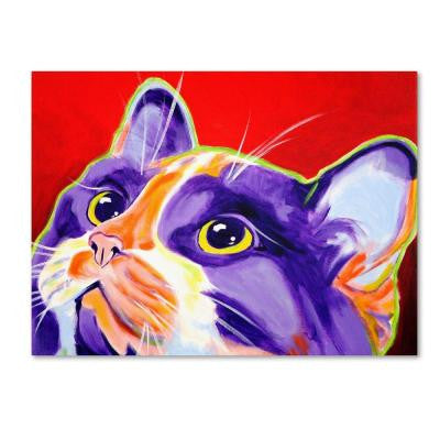 "35 in. x 47 in. ""Cat Issa"" by DawgArt Printed Canvas Wall Art"