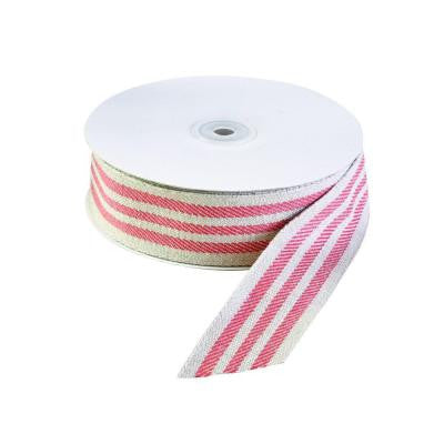 1.5 in. Linen Candy Stripe Ribbon