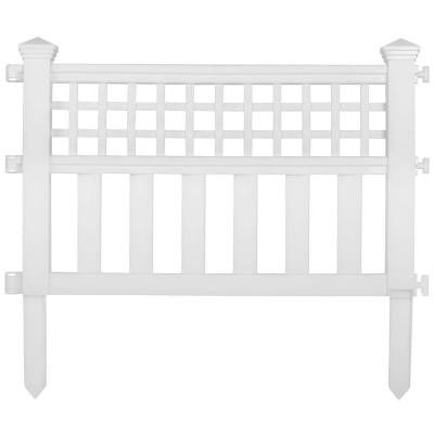 Grand View 14 in. Resin Garden Fence