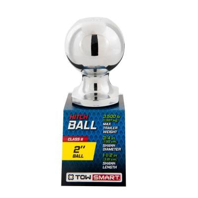 2 in. 3,500 lb. Capacity Chrome-Plated Class II Hitch Ball