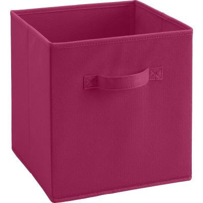 10.5 in. x 11 in. x 10.5 in. 5.25 Gal. Pink Fabric Storage Bin