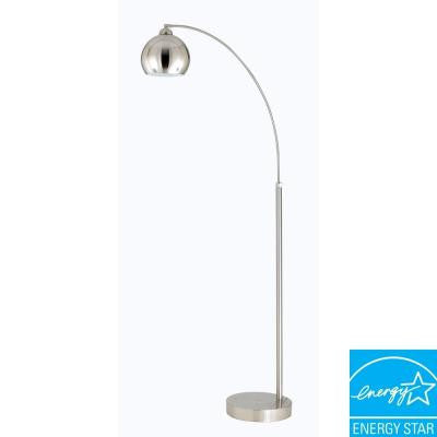 Arc 72 in. Brushed Steel Floor Lamp with Metal Shade