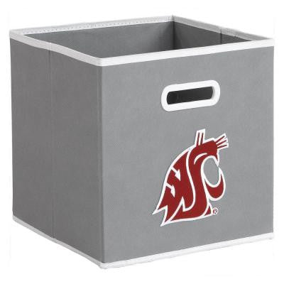 College STOREITS Washington State University 10-1/2 in. W x 10-1/2 in. H x 11 in. D Grey Fabric Storage Drawer