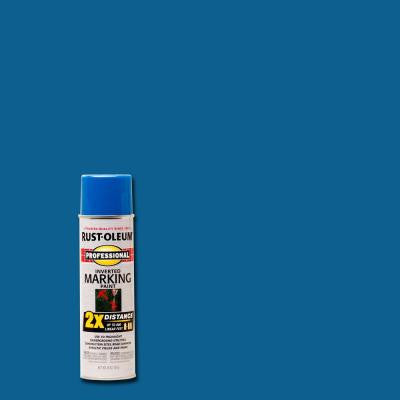 15 oz. 2X Caution Blue Marking Spray Paint (6-Pack)