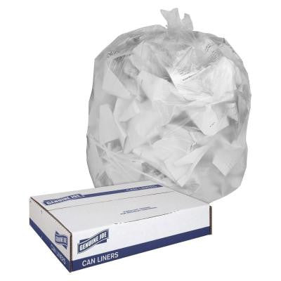 16 Gal. Clear Trash Can Liners (500-Count)
