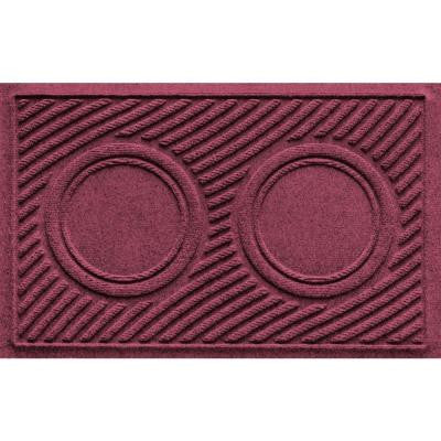 Bordeaux 18 in. x 28 in. Dog Bowl Wave Pet Mat