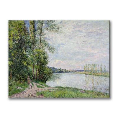 24 in. x 32 in. The Riverside Road from Veneux Canvas Art