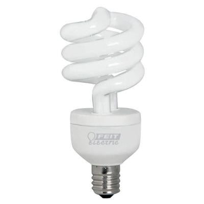 60W Equivalent Soft White Spiral Intermediate Base CFL Light Bulb (24-Pack)
