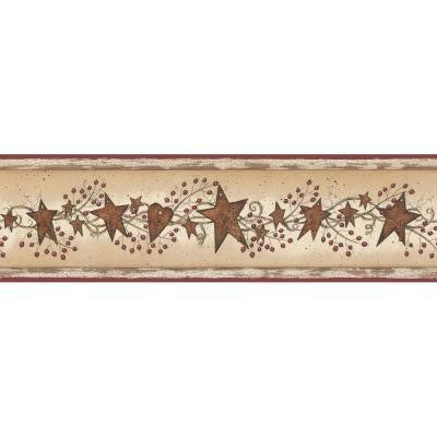 6 in. Tin Stars with Berries Border