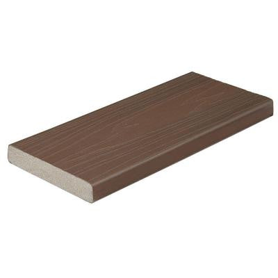 ProTect Advantage 1 in. x 5-1/4 in. x 20 ft. Chestnut Square Edge Capped Composite Decking Board (56-Pack)