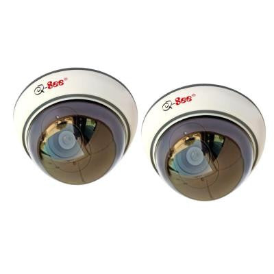 Indoor Decoy Dome Security Cameras Non-Operational (2-Pack)