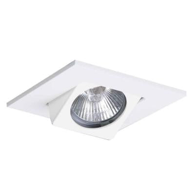 3 in. White Recessed Lighting Square Adjustable Eyeball Trim