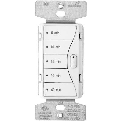 Aspire 1800-Watt 15 Amp 5-Button Minute Timer - Almond White