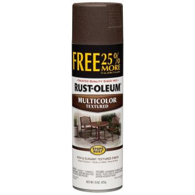 12 oz. Protective Enamel Multi-Colored Textured Autumn Brown 25% More Free Bonus Size Spray Paint (6-Pack)