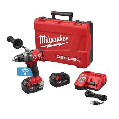 M18 FUEL with ONE KEY 18-Volt Lithium-Ion Brushless 1/2 in. Cordless Drill/Driver Kit