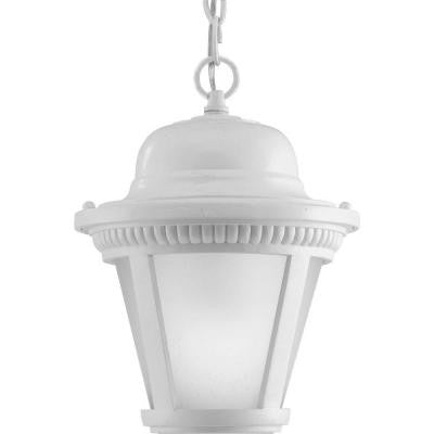 Westport Collection 1-Light White LED Hanging Lantern