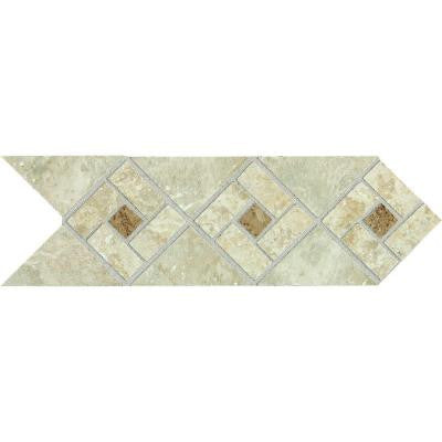 Heathland Sunrise Blend 4 in. x 12 in. Glazed Ceramic Decorative Accent Floor and Wall Tile