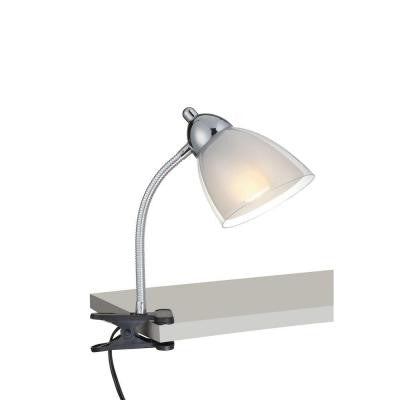 Designer Collection 12 in. White Desk Lamp with White Acrylic Shade