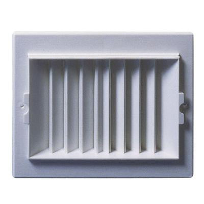 8 in. x 4 in. Plastic 2-Way Ceiling/Sidewall Register