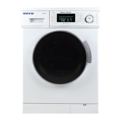 Washer and Electric Dryer in White