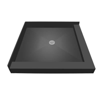 48 in. x 37 in. Double Threshold Shower Base with Center Drain