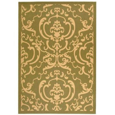 Courtyard Olive/Natural 8 ft. x 11 ft. Indoor/Outdoor Area Rug