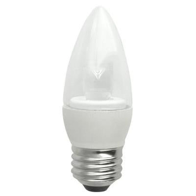 40W Equivalent Soft White (2700K) Blunt Tip Medium Base Deco LED Light Bulb (2-Pack)