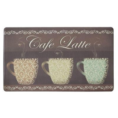 Cafe Latte 18 in. x 30 in. Comfort Kitchen Mat