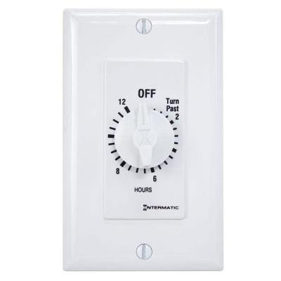 20 Amp 12-Hour Spring Wound In-Wall Timer - White