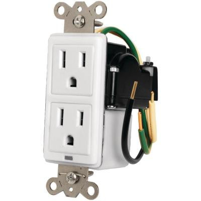 2-Outlet AC Receptacle with Surge Protection