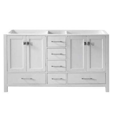 Caroline Avenue 60 in. Vanity Cabinet Only in White
