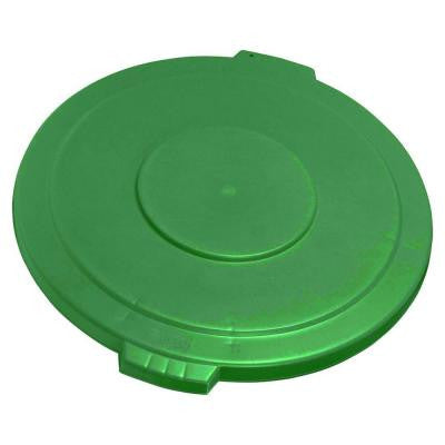 Bronco 20 Gal. Green Round Trash Can Lid (6-Pack)