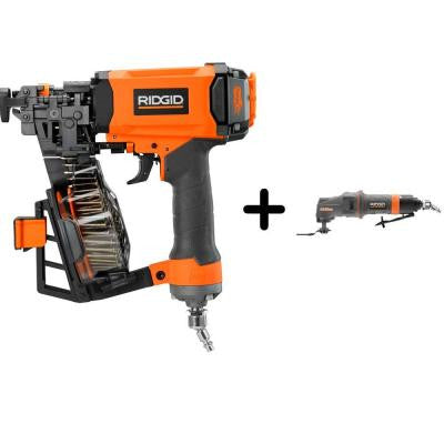 1-3/4 in. 15-Gauge Roofing Coil Nailer and Pneumatic JobMax Multi-Tool Starter Kit