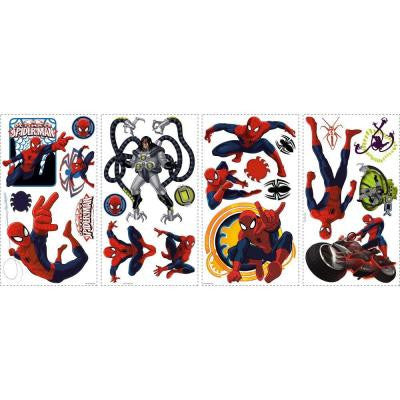 10 in. x 18 in. Spiderman - Ultimate Spiderman 22-Piece Peel and Stick Wall Decals