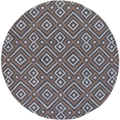Chino Charcoal 4 ft. x 4 ft. Round Indoor Area Rug