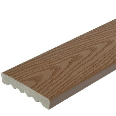 15/16 in. x 5.25 in. x 16 ft. Square Edge Capped Composite Decking Board in Brown
