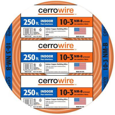 250 ft. 10/3 NM-B Indoor Residential Electrical Wire